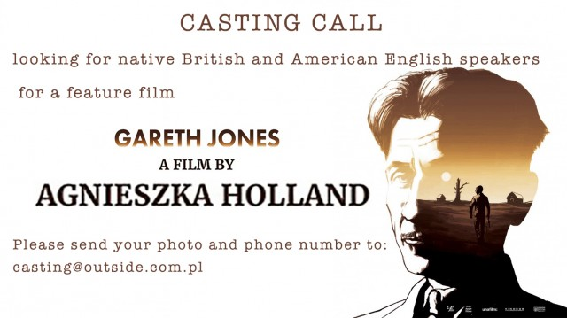 CASTING CALL - English native speakers for a new film by Agnieszka Holland