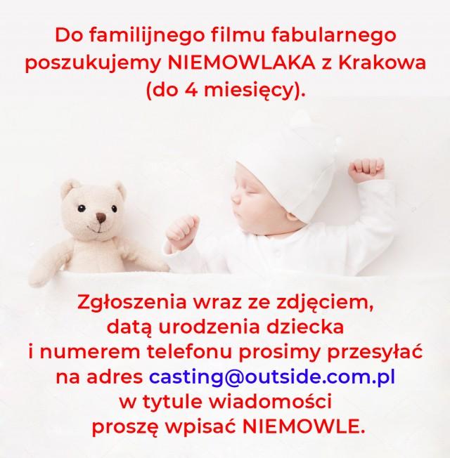 NIEMOWLE do familijnego filmu fabularnego.