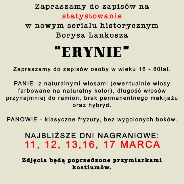 ERYNIE - nowy serial Borysa Lankosza